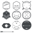 Set of vintage hunt icons emblems and labels vector image