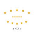 set yellow five stars rating symbol vector image vector image