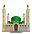 small mosque with four minarets vector image