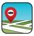 Street map icon with the pointer cafe vector image vector image