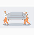support help delivery work teamwork concept vector image
