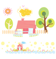 sweet home colorful vector image