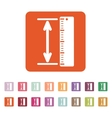 The measuring height and length icon Ruler vector image vector image