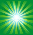 the sun radiation retro green background vintage vector image vector image