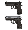 two automatic handguns vector image