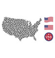 united states map collage of call vector image
