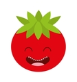 vegetable character cute icon vector image