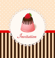 Vintage invitation card with strawberry chocolate vector image vector image