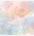watercolor pastel background vector image vector image