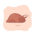 Whole Roast Chicken vector image