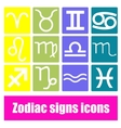 Zodiac signs icons vector image vector image