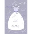 Retro bride background vector image