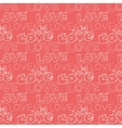 words i love you on pink background vector image
