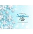 christmas sale poster with shiny snowflake vector image