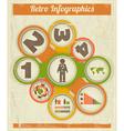 Vintage Retro Infographics design vector image