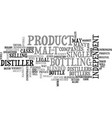 a bottle of their own text word cloud concept vector image vector image
