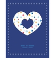 abstract hanging jewels striped heart vector image