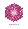 abstract hexagon emblem vector image vector image