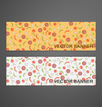 Abstract horizontal banners with sausage tomato vector image