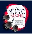 abstract music background with three speakers vector image
