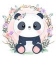 adorable little panda vector image vector image