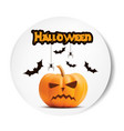 angry surprised halloween realistic white vector image vector image