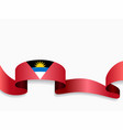 antigua and barbuda flag wavy abstract background vector image vector image