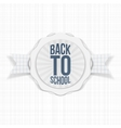 Back to School Holiday Label vector image