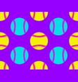 baseball ball seamless pattern bright colors vector image