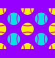 baseball ball seamless pattern bright colors vector image