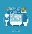 bathroom interior concept vector image vector image
