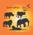 big five in africa vector image