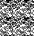 Black and white pattern in 80s style with doodles vector image vector image