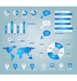 blue set of infographic elements vector image vector image