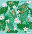 bright tropical seamless pattern vector image