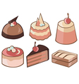 cakes vector image vector image