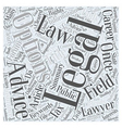 Career Options In Law Word Cloud Concept vector image vector image
