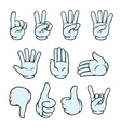 Cartoon hands set vector image vector image