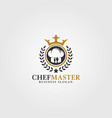 chef master logo template vector image vector image