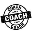 coach round grunge black stamp vector image vector image
