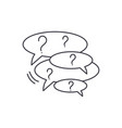 collection of questions line icon concept vector image vector image