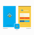 company targeted cloud splash screen and login vector image