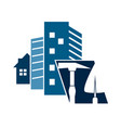 construction houses symbol vector image