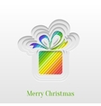 Creative Christmas Gift Greeting Card vector image vector image