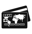 credit card icon simple black style vector image vector image