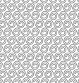 Delicate seamless pattern with stylized waves vector image vector image