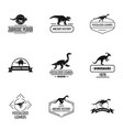 dino logo set simple style vector image