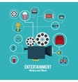 entertainment icons design vector image