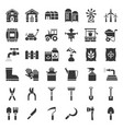 farm and agriculture equipment solid icon vector image