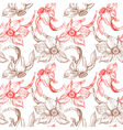 floral seamless pattern with narcissus vector image vector image